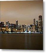 Chicago Skyline - Fog Rolling In Metal Print