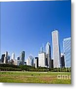 Chicago Skyline From Grant Park Metal Print