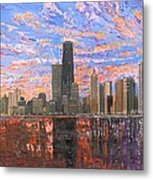 Chicago Skyline - Lake Michigan Metal Print