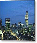 Chicago Skyline May 1983 Twilight Metal Print