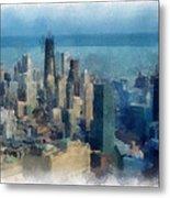 Chicago Skyline Photo Art 06 Metal Print