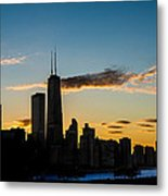 Chicago Skyline Silhouette Metal Print