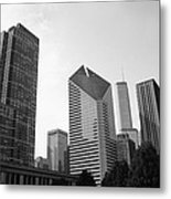 Chicago Skyscrapers Metal Print by Mike Maher