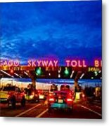 Chicago Skyway Toll Bridge Metal Print