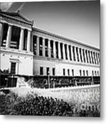 Chicago Solider Field Black And White Picture Metal Print by Paul Velgos