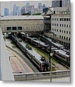 Chicago - South Shore Train Yard Metal Print