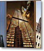 Chicago Tall Shoulders Trump Sears Tribune Triptych 3 Panel 01 Metal Print