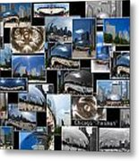 Chicago The Bean Collage Metal Print