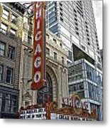 Chicago Theater Facade Northside Metal Print