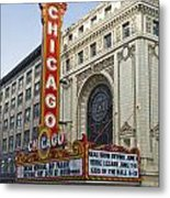 Chicago Theater Facade Southside Metal Print