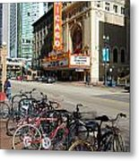 Chicago Theater Marquee Sign On State Street Metal Print