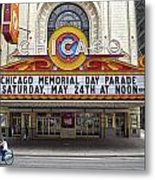 Chicago Theater Signage Metal Print