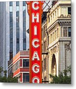 Chicago Theatre - A Classic Chicago Landmark Metal Print by Christine Till