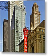 Chicago Theatre - This Theater Exudes Class Metal Print