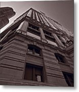 Chicago Towers Bw Metal Print