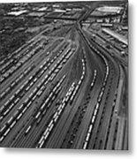 Chicago Transportation 02 Black And White Metal Print