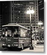 Chicago Trolly Stop Metal Print