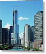 Chicago Trump Tower Under Construction Metal Print