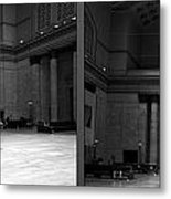 Chicago Union Station The Great Hall 2 Panel Bw Metal Print