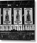 Chicago United Center Banners Bw Metal Print