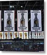 Chicago United Center Banners Metal Print