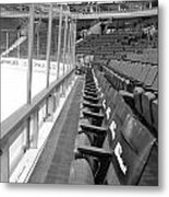 Chicago United Center Before The Gates Open Blackhawk Seat One Bw Metal Print