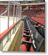 Chicago United Center Before The Gates Open Blackhawk Seat One Metal Print