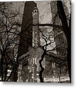 Chicago Water Tower B W Metal Print