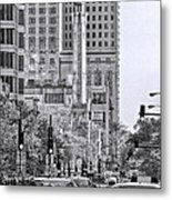 Chicago Water Tower Beacon Black And White Metal Print