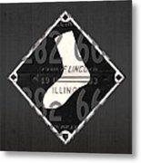 Chicago White Sox Baseball Vintage Logo License Plate Art Metal Print