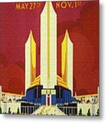 Chicago World Fair A Century Of Progress Expo Poster  1933 Metal Print