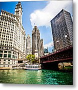 Chicago Wrigley Tribune Equitable Buildings Photo Metal Print