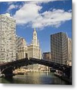 Chicagobridge Up Metal Print