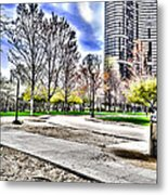 Chicago's Jane Addams Memorial Park From The Series The Imprint Of Man In Nature Metal Print