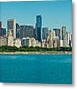 Chicago's Lakefront Panorama Metal Print