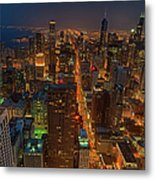 Chicagos Magnificent Mile Metal Print