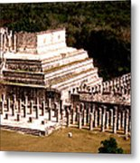 Chichen Itza - Temple Of Columns Metal Print