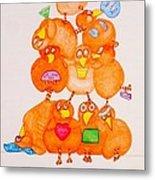 Chickadee Chick 10 Metal Print