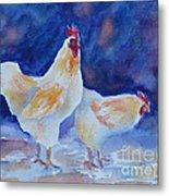 Chicken Duo Metal Print