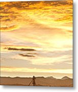 Chicken Farm Sunset 1 Metal Print by James BO  Insogna