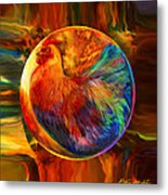Chicken In The Round Metal Print by Robin Moline