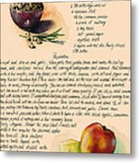 Chickpeas Soup With Apples Metal Print by Alessandra Andrisani