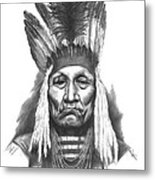 Chief Curly Bear Metal Print by Lee Updike