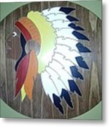 Chief In Cherry Metal Print