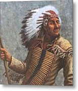 Chief Knife Metal Print