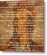 Chief Tecumseh Poem Metal Print