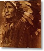 Chief Whirling Horse Metal Print