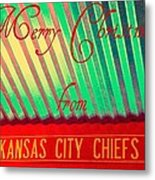 Chiefs Christmas Metal Print