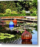 Chihuly Ball Lily Pond Metal Print