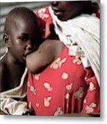 Child Breastfeeding Metal Print